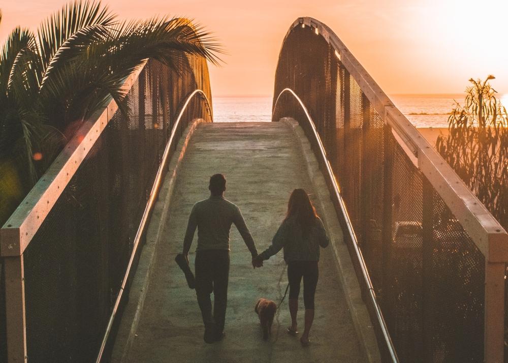 para wspólnie spaceruje rozbudzając namiętność wzwiązku