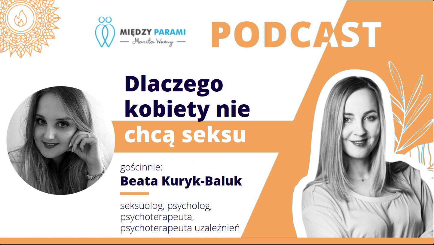 15. Dlaczego kobiety niechcą seksu – wywiad zseksuolog Beatą Kuryk-Baluk